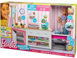 Mattel Barbie Cooking und Baking Deluxe Kueche Spielset und Puppe