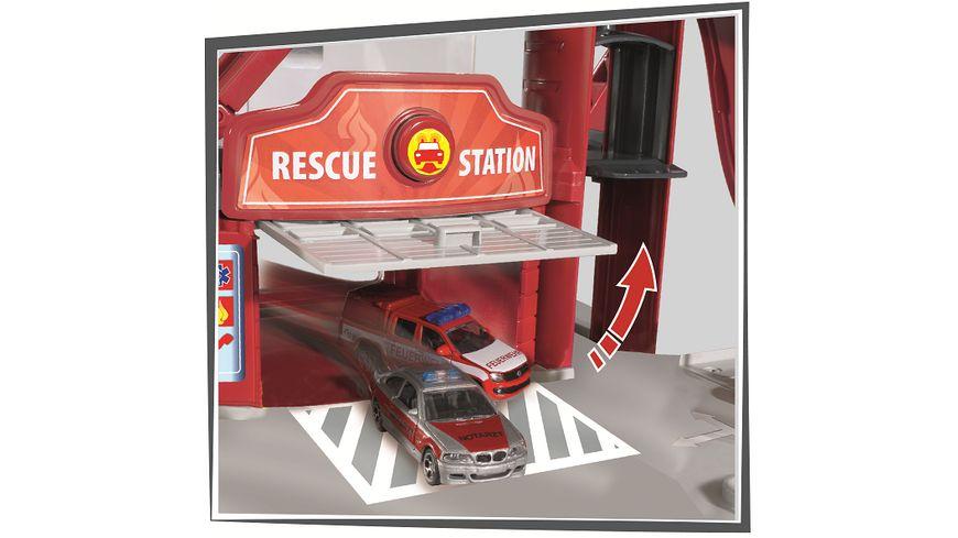 Majorette Creatix Rescue Station plus 5 Fahrzeuge