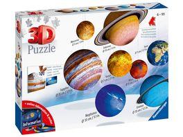 Ravensburger Puzzle 3D puzzleball Planetenbox 27 54 72 108 Teile