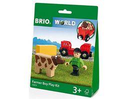 BRIO Bahn Spielpaeckchen Bauer mit Kuh
