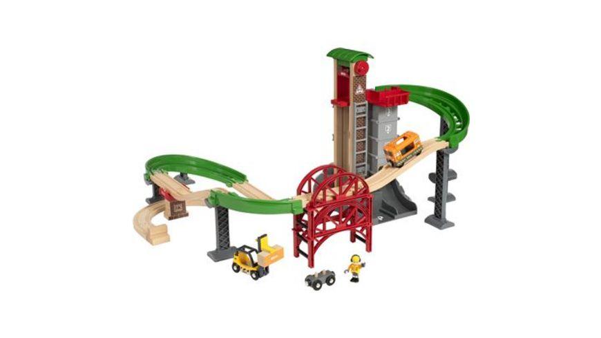 BRIO Bahn Grosses Lagerhaus Set mit Aufzug