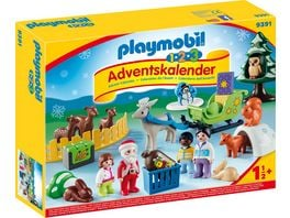 PLAYMOBIL 9391 Christmas 1 2 3 Adventskalender Waldweihnacht der Tiere