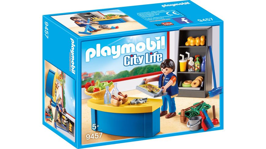 PLAYMOBIL 9457 City Life Hausmeister mit Kiosk