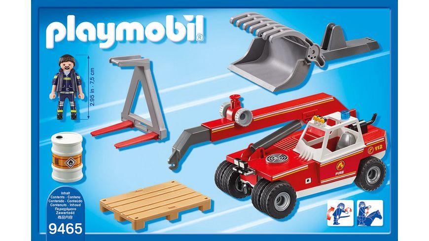 PLAYMOBIL 9465 City Action Feuerwehr Teleskoplader
