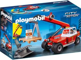 PLAYMOBIL 9465 City Action Feuerwehr Teleskoplader