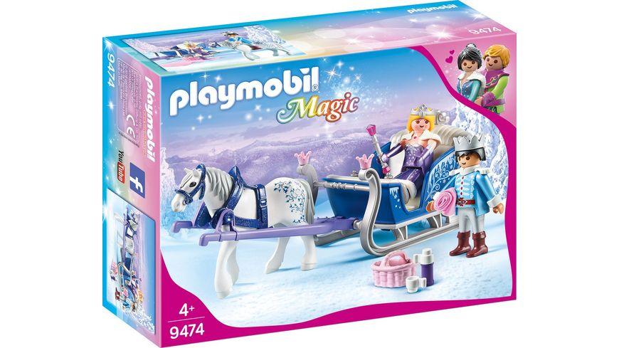 PLAYMOBIL 9474 Magic Schlitten mit Koenigspaar