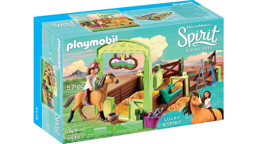 PLAYMOBIL 9478 Spirit Riding Free Pferdebox Lucky und Spirit