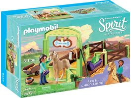 PLAYMOBIL 9479 Spirit Riding Free Pferdebox Pru und Chica Linda