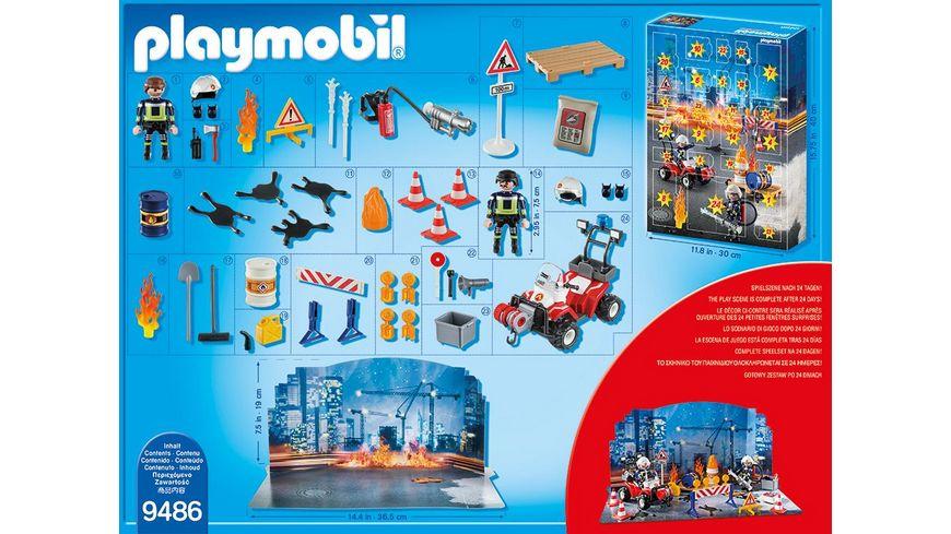 PLAYMOBIL 9486 Christmas Adventskalender Feuerwehreinsatz auf der Baustelle