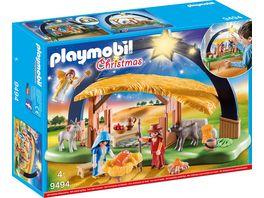 PLAYMOBIL 9494 Christmas Lichterbogen Weihnachtskrippe