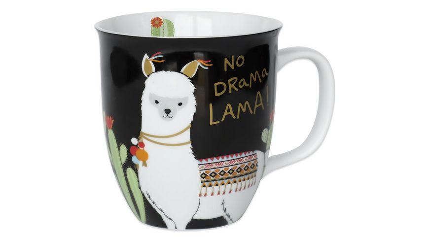 Happy Life Kaffee Tasse mit Lama Tier Motiv No Drama Lama 45544