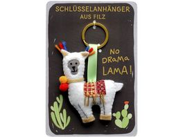 Happy Life Schluesselanhaenger mit Lama No Drama Lama 45548
