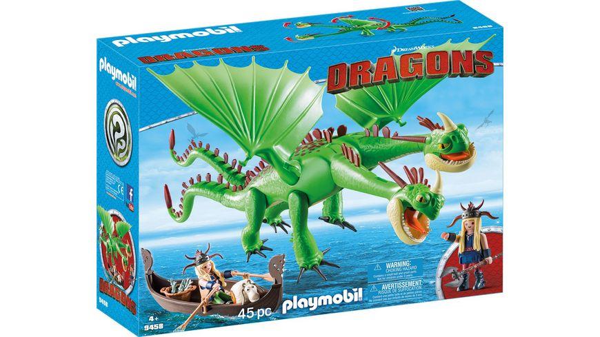 PLAYMOBIL 9458 Dragons Raffnuss und Taffnuss mit Kotz und Wuerg