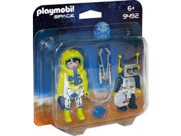 PLAYMOBIL 9492 Space Duo Pack Astronaut und Roboter