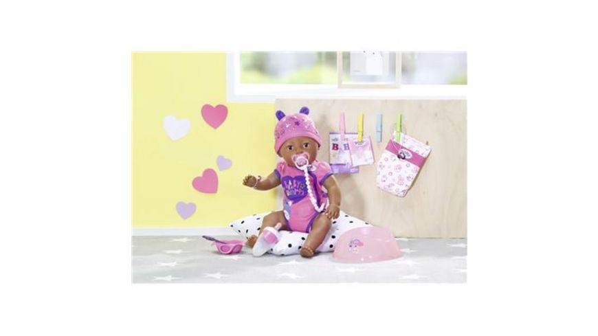 Zapf Creation Baby born Soft Touch Girl Brown Eyes