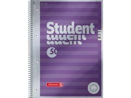 PAPERZONE Noten Collegeblock A4 50 Blatt Lineatur 14