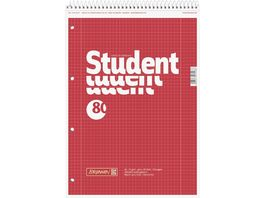 BRUNNEN Collegeblock Linkshaender A4 Lineatur 28 Premium