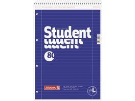 BRUNNEN Collegeblock Linkshaender A4 Lineatur 27 Premium