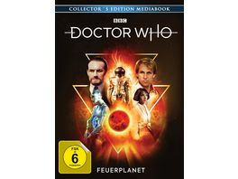 Doctor Who Fuenfter Doktor Feuerplanet Limitiertes Mediabook Collector s Edition 2 DVDs