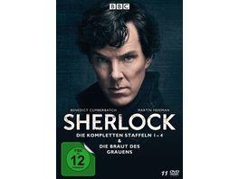 Sherlock Die kompletten Staffeln 1 4 Die Braut des Grauens 11 DVDs