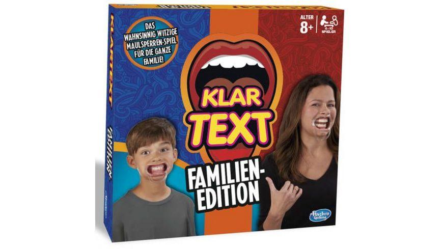 Hasbro Gaming Klartext Familien Edition