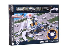 Majorette Creatix Airport Lufthansa plus 5 vehicles