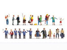 NOCH H0 Figuren XL Set Auf dem Bahnhof