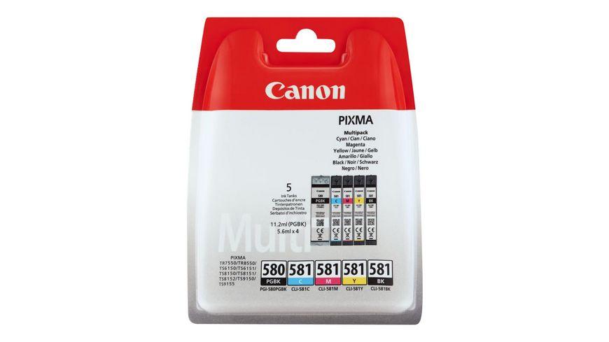 Canon Druckerpatrone PGI 580 CLI 581 Multipack schwarz