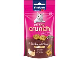 Vitakraft Katzensnack Crispy Crunch Truthahn Chia