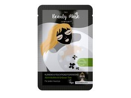 The Beauty Mask Company Tuchmaske Aktivkohle Gruener Tee