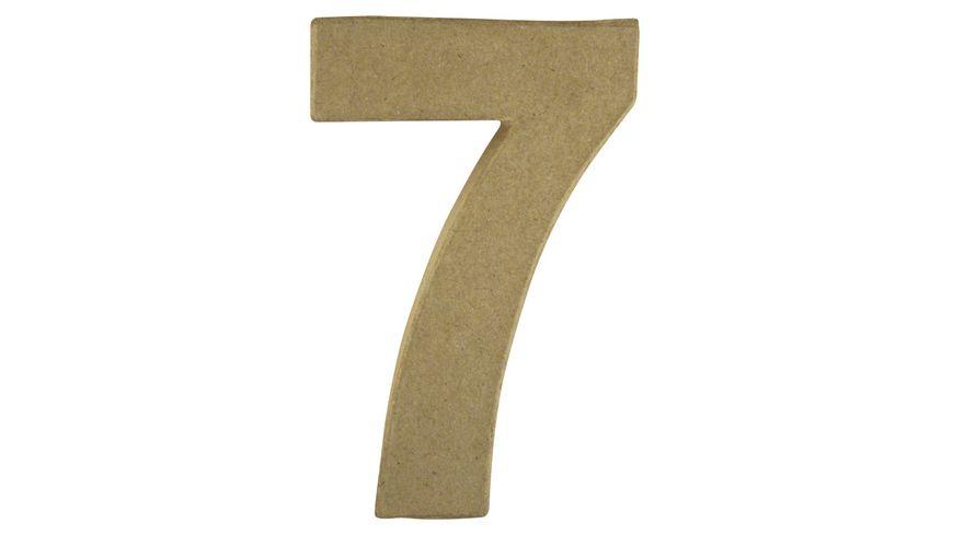 Rayher Pappmasche Zahl 7