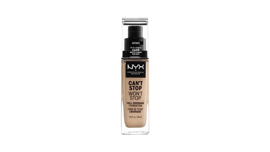 NYX PROFESSIONAL MAKEUP Make up Can t Stop Won t Stop 24 Hour Full Coverage Foundation