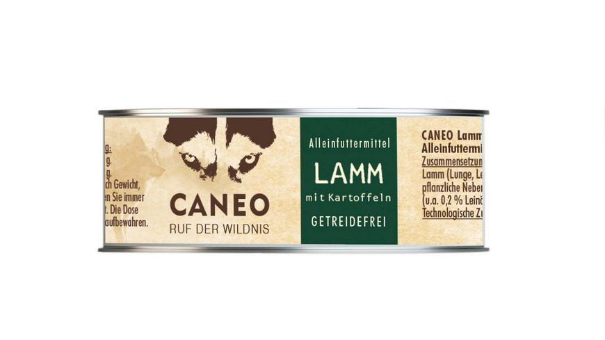 CANEO Hundenassfutter Lamm mit Kartoffel Dose