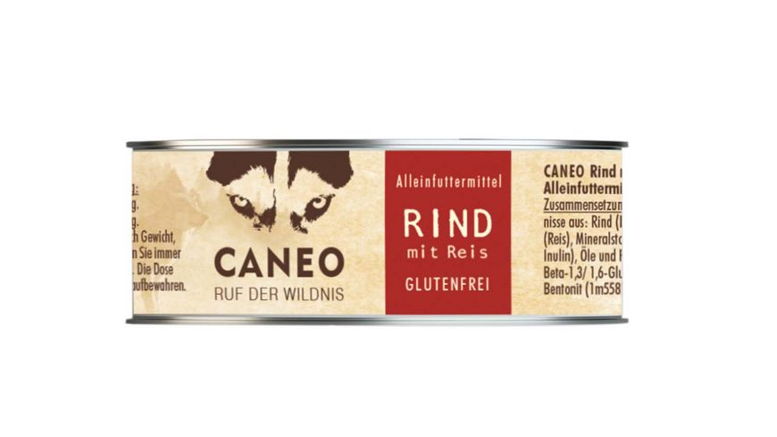 CANEO Hundenassfutter Rind mit Reis Dose