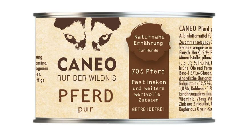 CANEO Hundenassfutter Pferd Pur Dose
