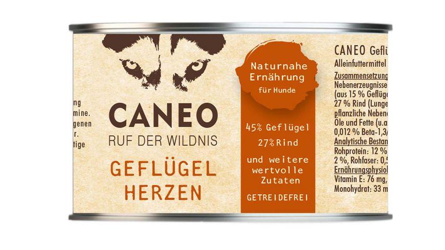 CANEO Hundenassfutter Gefluegelherzen Dose