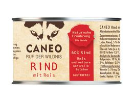 CANEO Hundenassfutter Rind mit Reis Dose