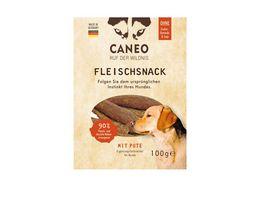 CANEO Fleischsnacks fuer Hunde mit Pute