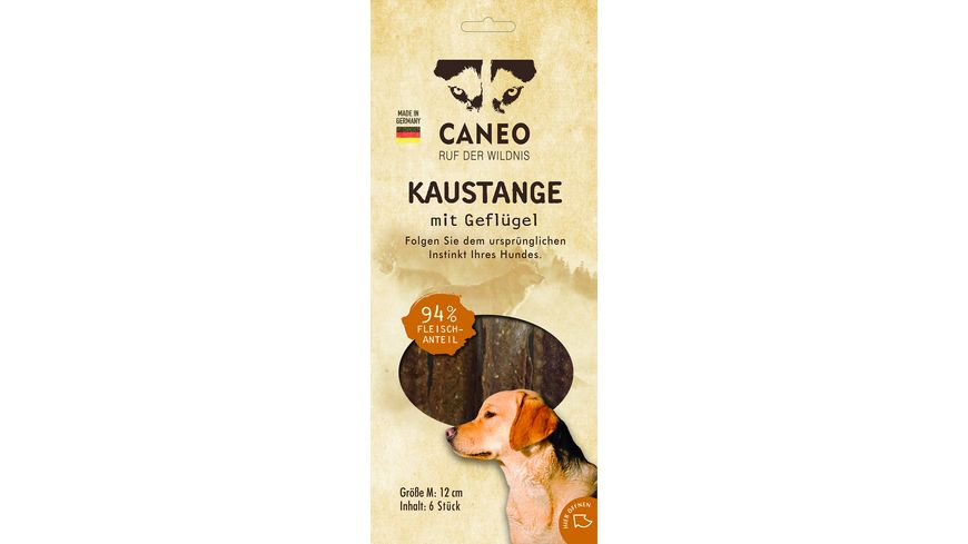 CANEO Native Kaustange M Gefluegel 6 Stueck je 12 cm