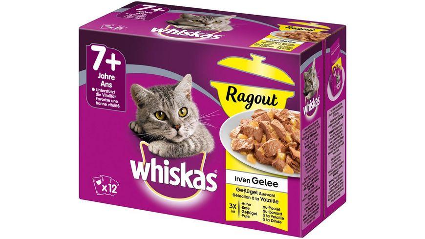 Whiskas Portionsbeutel 7 Ragout Gefluegelauswahl in Gelee 12X85G