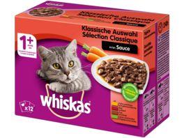 Whiskas Portionsbeutel 1 Klassische Auswahl in Sauce 12X100G Multipack