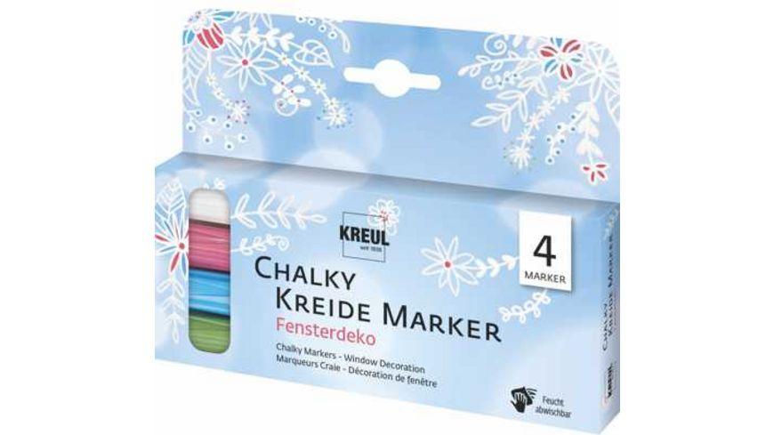 KREUL Chalky Kreidemarker 4er Set Fensterdeko