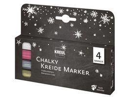 KREUL Chalky Kreidemarker 4er Set
