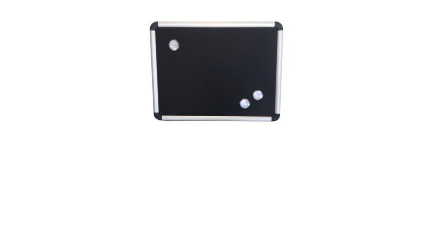 Magnet und Kreidetafel mit Alurahmen 40 x 30 cm