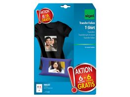 sigel AKTION T Shirt Transfer Folien fuer dunkle Textilien T1157