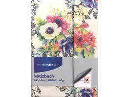 PAPERZONE Notizbuch Blumen liniert