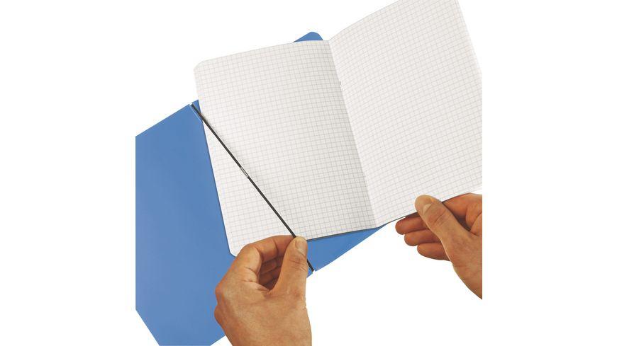 my book flex Notizheft PP A5 blau kariert