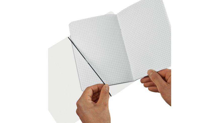 herlitz my book flex Notizheft PP A5 transparent kariert
