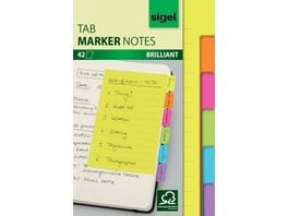 sigel Haftmarker Notes Tab 42 Blatt 98 x 148mm