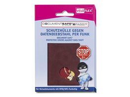 VELOFLEX Document Safe ePass Schutzhuelle fuer Reisedokumente weinrot